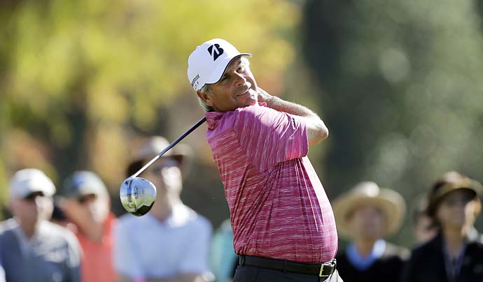 Fred Couples picks it clean during the pro-am. Couples won the Desert Classic in 1995.