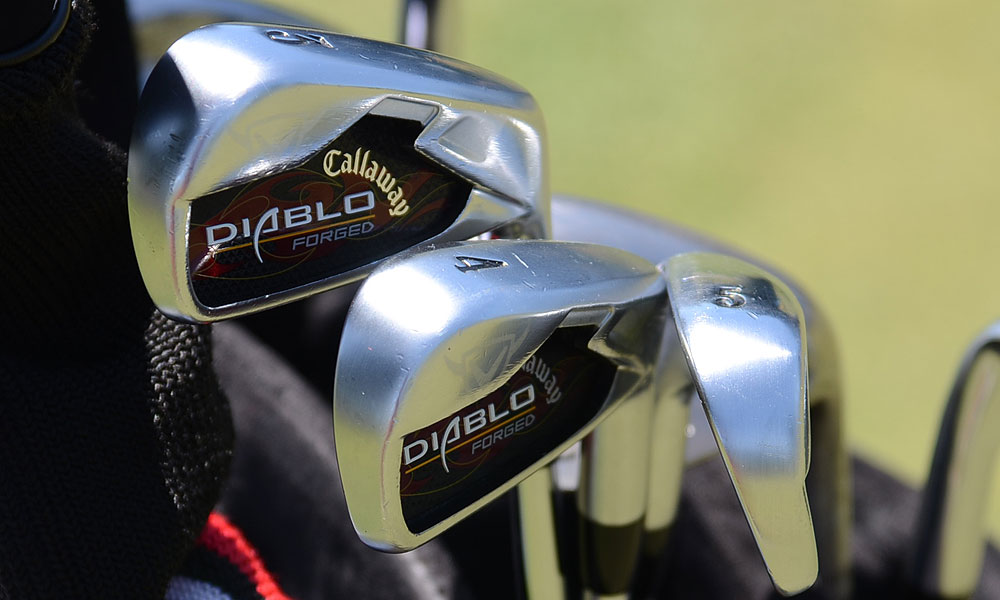 Sweden's Fredrik Jacobson uses a set of Callaway Diablo Forged irons.