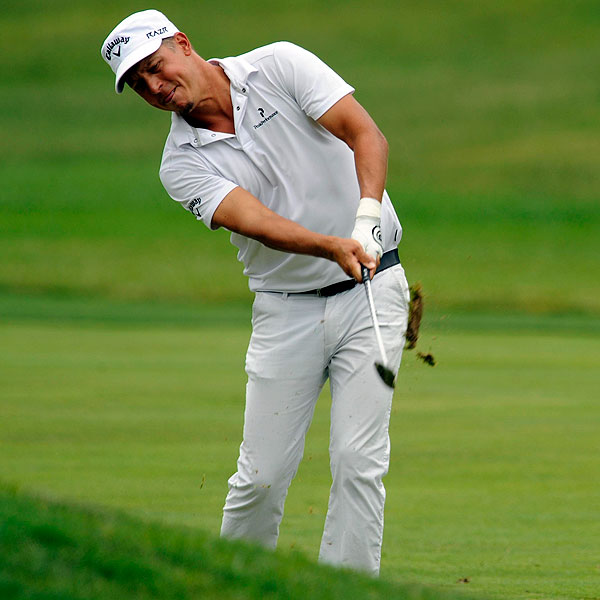 Against a field of color, white suddenly pops and becomes graphic. Fredrik Jacobson, who made a great run at second place, wore all-white outfits on consecutive days. (We hope he changed in between.) With his odd swing and head-to-toe white look, he really stood out.