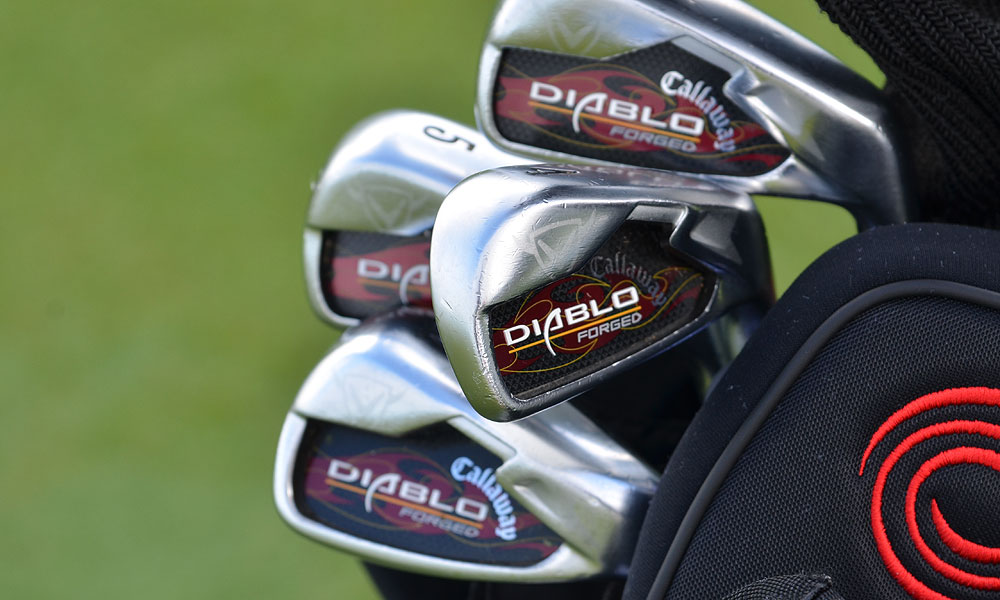 Sweden's Fredrik Jacobson plays Callaway Diablo Forged irons.