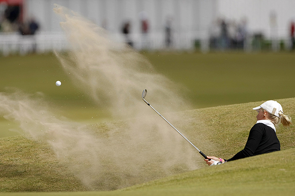 Louise Friberg found the sand on 17 and carded a bogey on the famous Road Hole. However, the Swede shot a four-under 69 to finish two behind Ochoa.