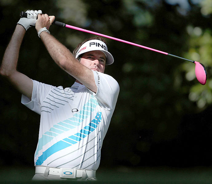 Bubba Watson                       When Watson isn't riding his hovercraft golf cart or sitting courtside at Miami Heat games watching LeBron James, he's bombing drives with his signature pink Ping driver. Bubba's self-taught swing has vaulted him to the top of the PGA Tour driving distance charts since he joined the Tour in 2006. He led the Tour his rookie year in 2006, averaging 319.6 yards off the tee, and has finished no worse than second in the six years since.