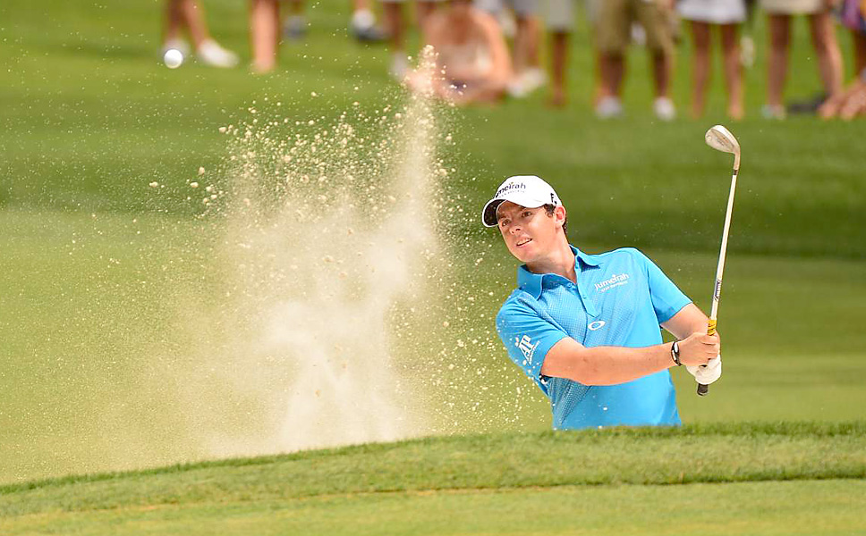 Rory McIlroy began the day two shots off the lead. He shot a 70 to get into the playoff.