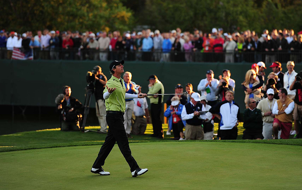 Nicolas Colsaerts was Europe's star on Friday, as he teamed with Lee Westwood and rang up eight birdies and an eagle to spark a 1-up victory over Tiger Woods and Steve Stricker.