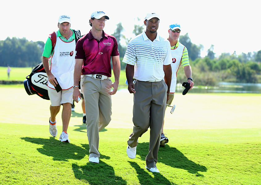 McIlroy and Woods met in early October at the eight-man World Golf Final in Turkey. Woods thumped McIlroy in their stroke-play match, 64-70, before losing to Justin Rose in the semifinals.