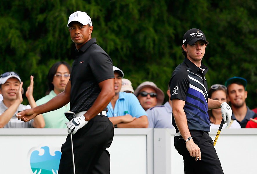 At the 2012 Barclays at Bethpage Black, Woods and McIlroy were once again paired together for the opening two rounds. McIlroy shot 69-73 and tied for 24th, while Woods went 68-69 before fading on the weekend and tying for 38th.
