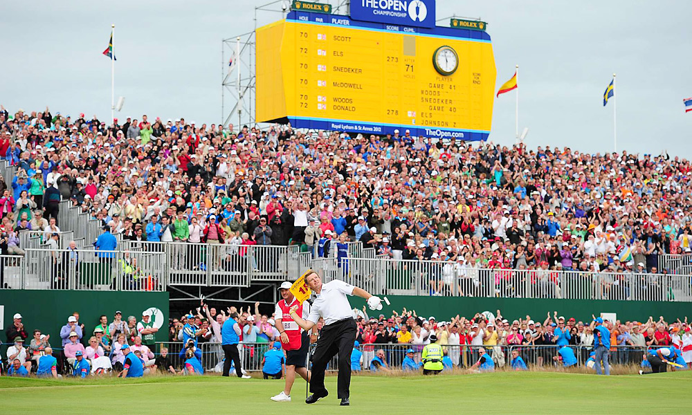 Ernie Els, Final Round of the British Open, No. 18, Third Shot                     Ernie Els had struggled with his putting in recent years, but he made a no-doubt-about-it 15-footer for birdie on the 18th hole and eventually won the British Open by one shot for his fourth career major title.