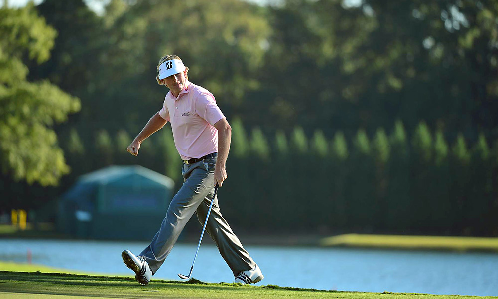 Brandt Snedeker, Final Round of the Tour Championship, No. 17, Third Shot                     On his way to winning the Tour Championship and the $10 million FedEx Cup, Brandt Snedeker chipped in on the 17th hole to all but seal the payday.
