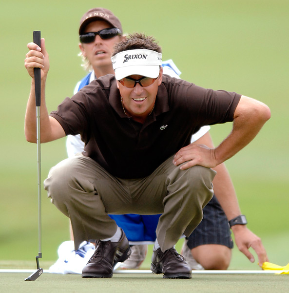 "Robert Allenby and Michael Tritton                                              They say that breaking up is hard to do. But not for Tritton, who, part-way through the second round of the 2007 BMW Championship, removed his caddie bib, tossed his yardage book to Allenby and walked off the course. Tritton's resignation took place on the 16th tee (Allenby's seventh of the day), after a disagreement in which the caddie pulled a three wood and Allenby said he thought it was too much club. ""He just ignored me, and started walking off the tee,"" Allenby recounted later. ""I said, 'What's wrong?' And then he started whinging at me. For two day's everything's been fine. I really don't know. He said, 'You don't want me to caddie any more. You want me to leave, don't you?' I said, 'No, I don't.' And then he just left."" It wasn't the first time Allenby had been jilted. At the '95 British Open at St. Andrews, his caddie, Michael Waite, tossed his bag in fury on the ground mid-round, but finished the 18 before quitting."