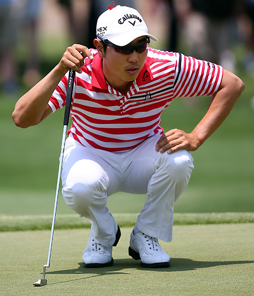 Sang-Moon Bae shot a 69 to pass overnight leader Keegan Bradley and win the Byron Nelson Championship by two shots.
