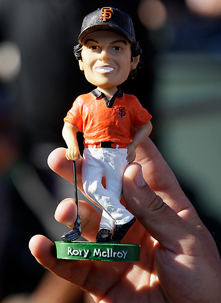 McIlroy bobbleheads were also created for the event at the stadium -- it was Irish Heritage Night.