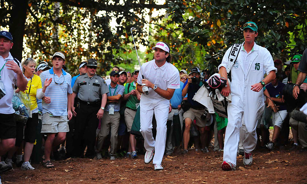 Watson hit this hooked wedge shot around the trees on the 10th hole -- and second hole of sudden death -- to set himself up for his first career major title.