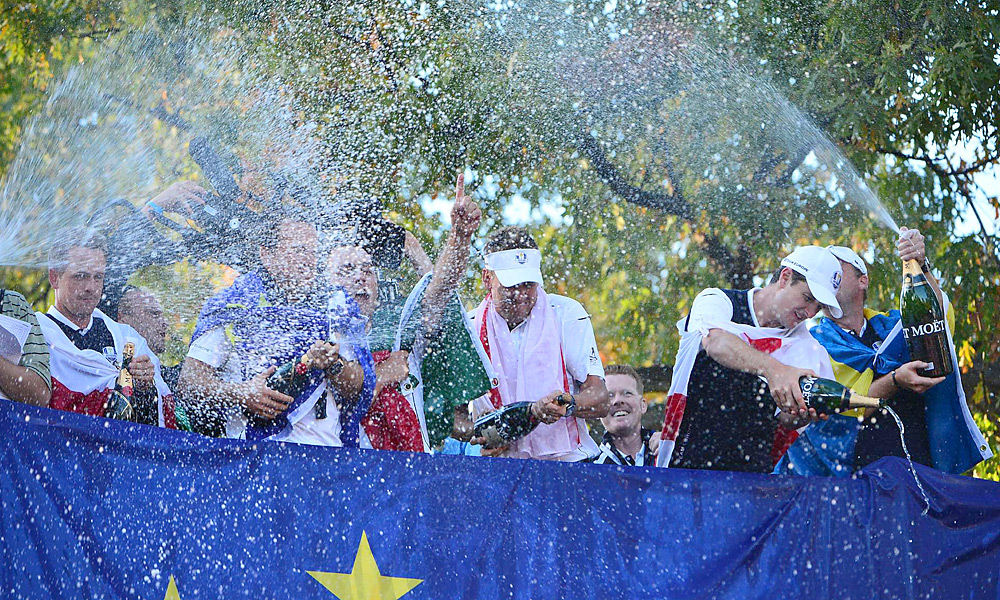 It's hard to say which was better entertainment, Saturday afternoon at the Ryder Cup when the Americans were dominating but couldn't beat Luke or Poulter, or Sunday when the Americans couldn't play dead and the Euros rose again. Two great days. - Gary Van Sickle