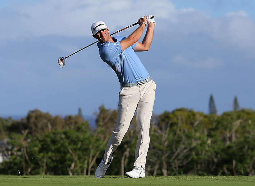 Johnson's early preparation paid off -- he played six practice rounds at Kapalua before the event started.