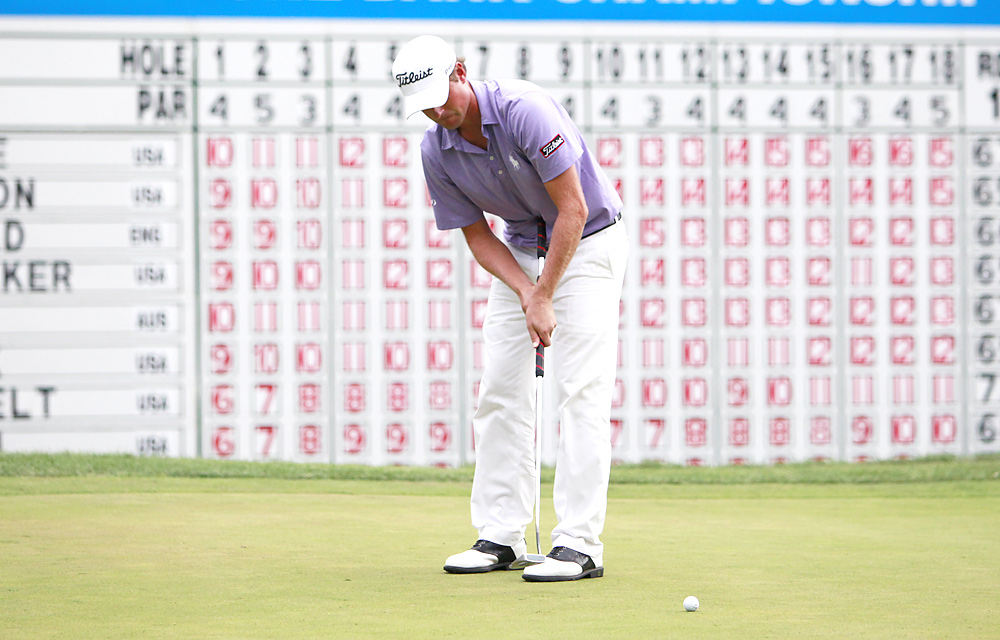 Simpson earned his second win at the Deutsche Bank Championship in the FedEx Cup playoffs.