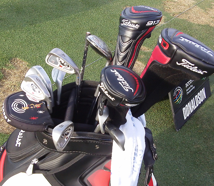 Jamie Donaldson plays old Ping i15 irons.