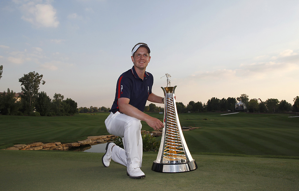 Donald became the first player to win the money title on the PGA Tour and the European Tour in the same season.