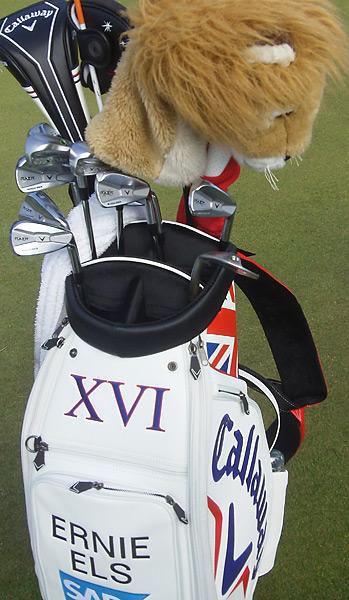 Defending British Open champion Ernie Els has Callaway RAZR X Muscleback irons in his bag.