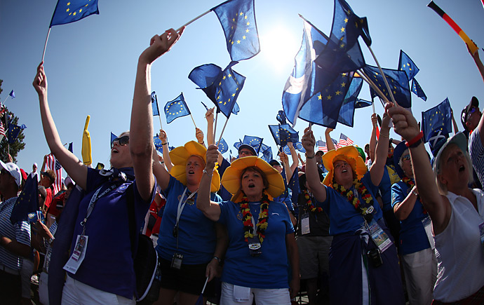 European fans had a lot to cheer about early Sunday as their team began the day with a big lead.