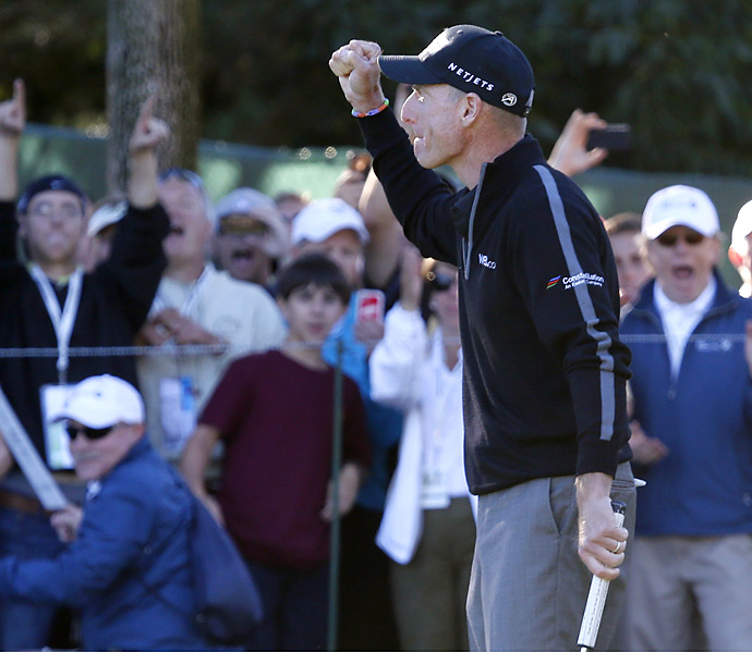 Furyk became the first player to break 60 in a round since Stuart Appleby at the 2010 Greenbrier Classic.