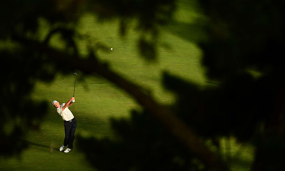 Jim Furyk played an approach on Saturday at Olympic Club. He had a chance to win his second career major, but stumbled late in the final round and finished tied for fourth.