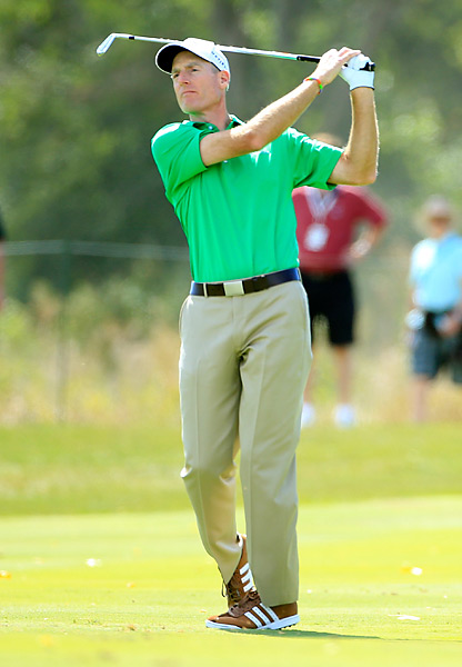 Fresh off a Friday 59, Jim Furyk turned in another strong round with a two-under 69.