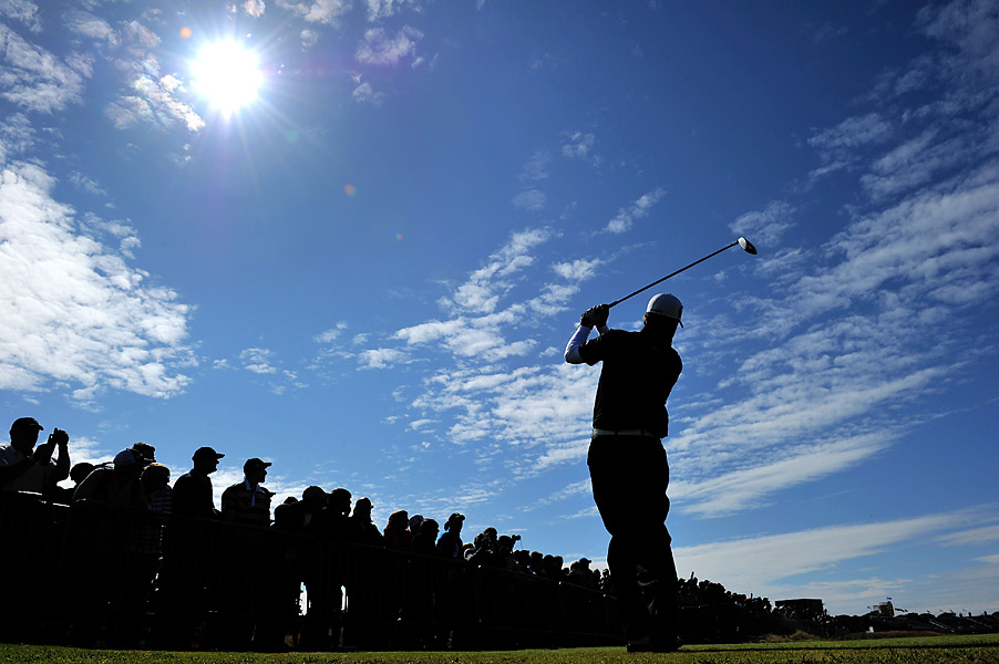 Graeme McDowell and the rest of the field practiced under sunny skies on Wednesday.