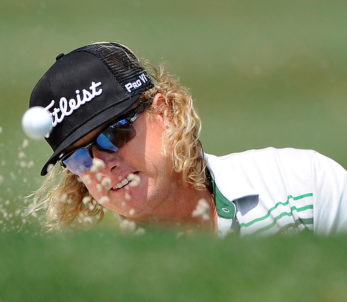 Hoffman toppled out of the lead when he made a double-bogey 5 on the 15th hole. He finished tied for sixth.
