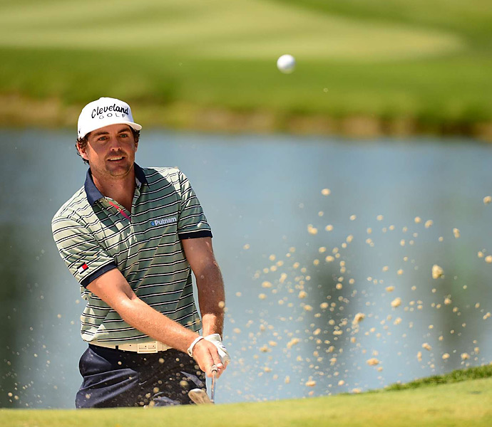Keegan Bradley faded from contention after a three-over 74 on Saturday.