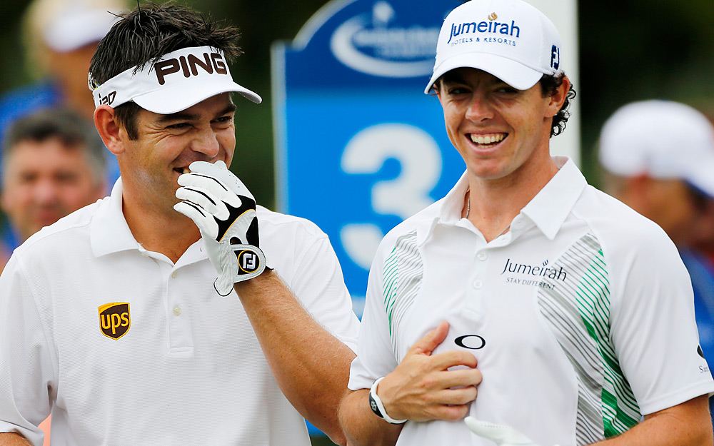 Louis Oosthuizen and Rory McIlroy were paired together in the final group during Sunday's third round. Oosthuizen went sailing past McIlroy with a 63 that gave him a three-shot lead heading into Monday's final round.