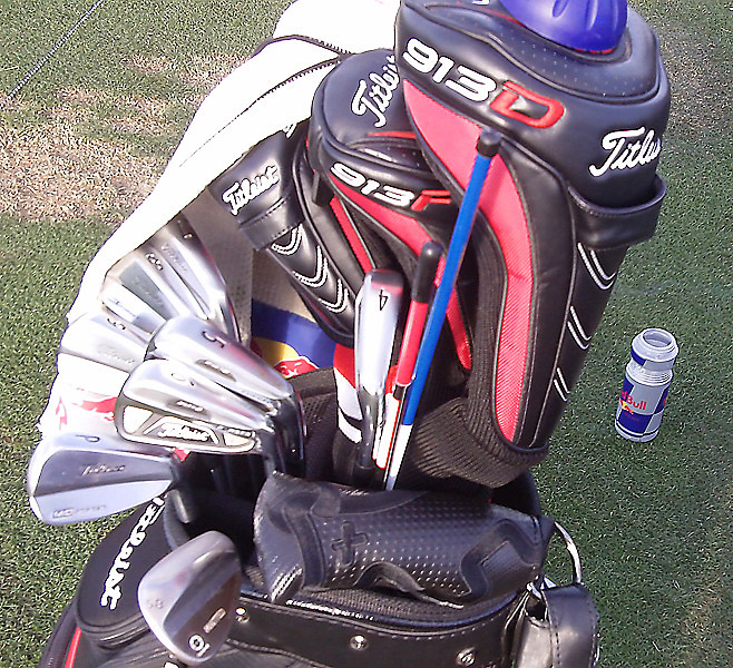 Matteo Manassero sports Titleist AP2 long and mid-irons (4-6), plus Titleist MB short irons (7-PW).