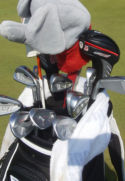 Michael Thompson has one Ping Tour-S wedge and two Ping Anser Forged wedges in Scotland.