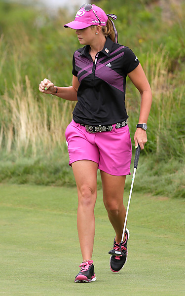 Paula Creamer shot a 74 to finish tied for fourth.