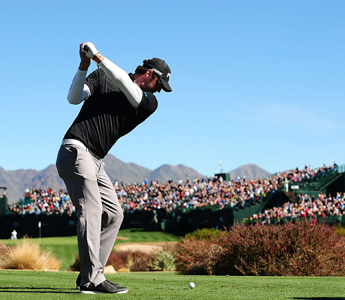 Michael Phelps played in the Phoenix Pro-Am on Wednesday.