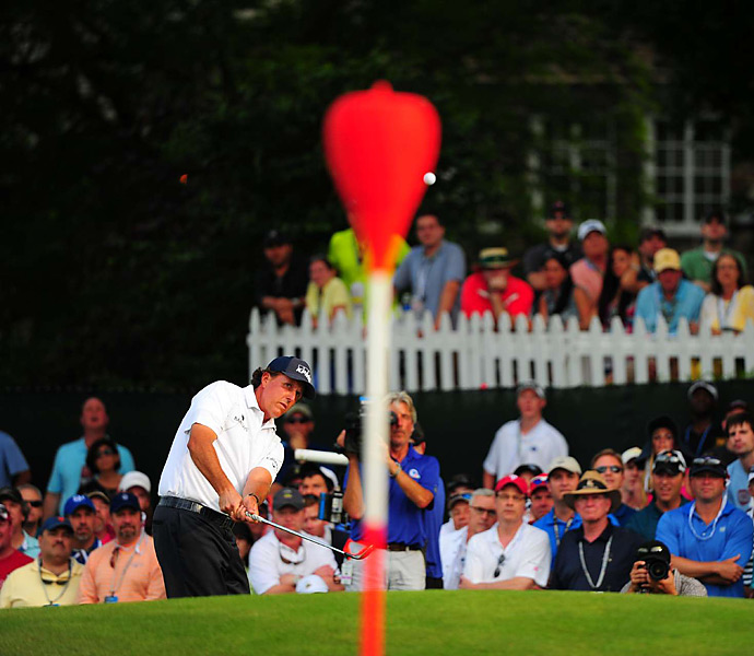 Mickelson was center of attention all week at Merion, where he was chasing his first U.S. Open.