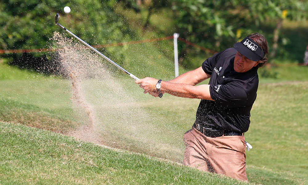 Phil Mickelson shot a six-under 66 in his opening round. Mickelson is a two-time winner at this event.