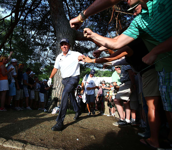 The fans in Philly embraced Mickelson all week long.