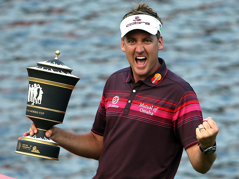 Poulter's familiar celebratory scream -- which was on full display one month ago at the Ryder Cup -- made an appearance at Mission Hills.