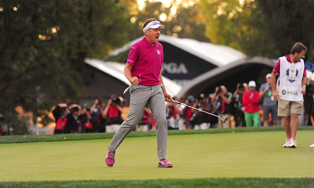 """Ian Poulter's run of birdies on Saturday afternoon at Medinah was unreal. On the 18th, with Poulter facing a final putt of about 10 feet to close out the match, I turned to John Garrity and said, """"The United States should tell Ian it's good and let him pick it up."""" Boom! In it went and Poulter celebrated again. In the words of Peter Alliss, """"Remarkable."""" - David Dusek"""