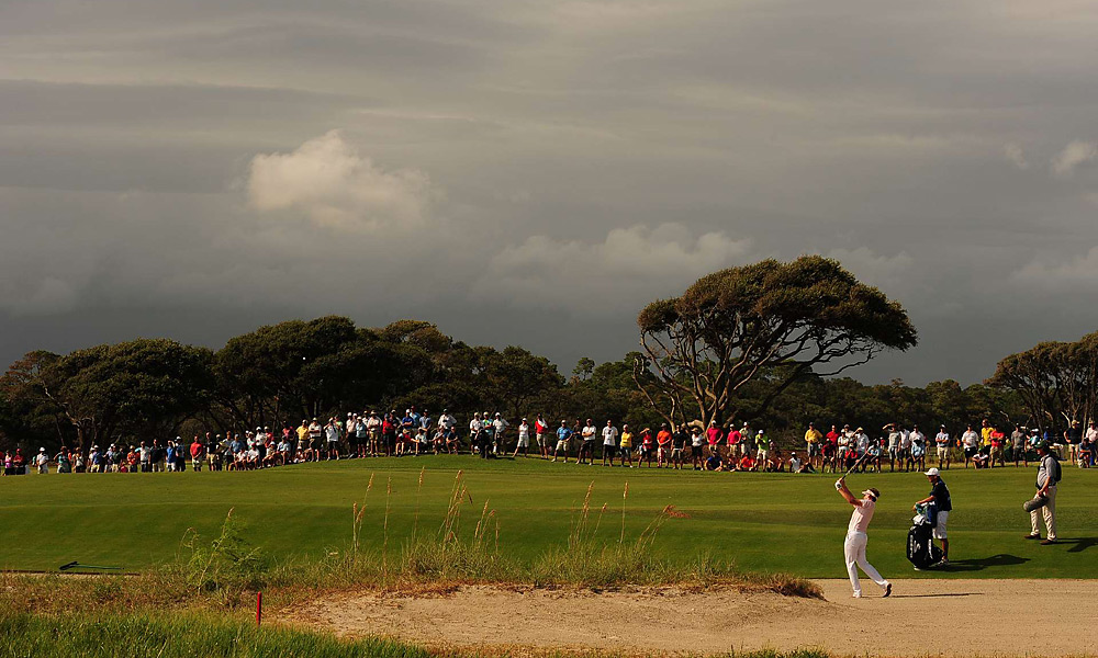 Ian Poulter played an approach during the third round at Kiawah. He went on to tie for third.