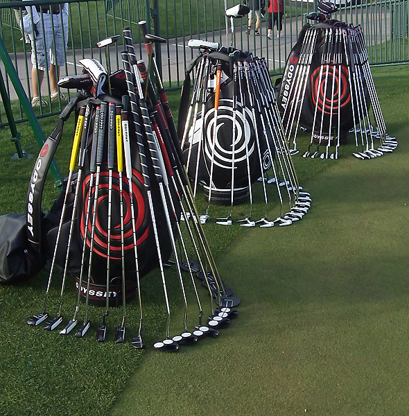Pros searching for an Odyssey putter can select from a variety of 2-Ball styles, as well the company's new Versa models in white-black-white or black-white-black for improved optics.