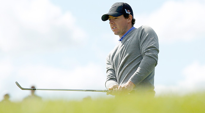 Rory McIlroy followed an opening round 78 with a 77 and is in last place after two rounds.