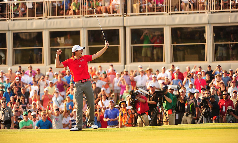 McIlroy celebrated an eight-shot win -- and his second career major title -- at the PGA.