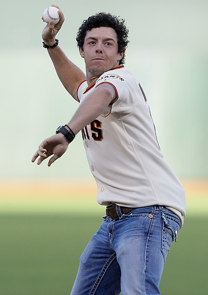Rory McIlroy threw the ceremonial first pitch at the San Francisco Giants home game against the Houston Astros on the Tuesday before the 2012 U.S. Open .