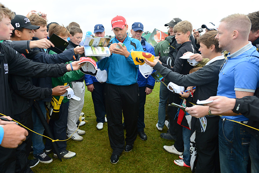 Sergio Garcia signed some autographs on Tuesday.