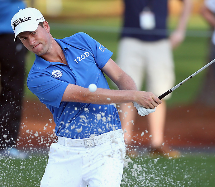 Webb Simpson opened with a bogey-free 3-under 68.
