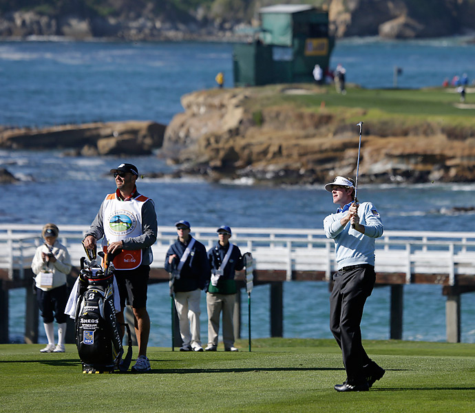 Brandt Snedeker shot a final-round 65 to win the Pebble Beach Pro-Am by two shots.