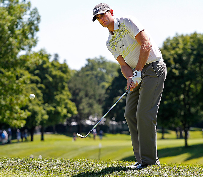 Brendan Steele grabbed the opening-round lead with a seven-under 65.