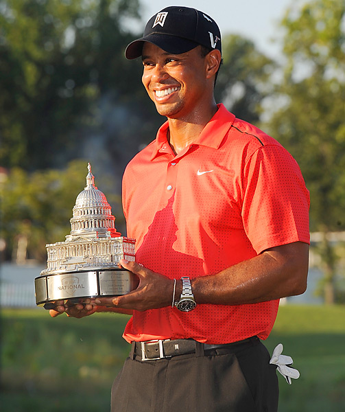 Woods fended off Bo Van Pelt in the final group at the AT&T National on July 1 and won by two shots for his third title of the season. With the win, Woods passed Nicklaus with his 74th career PGA Tour title.