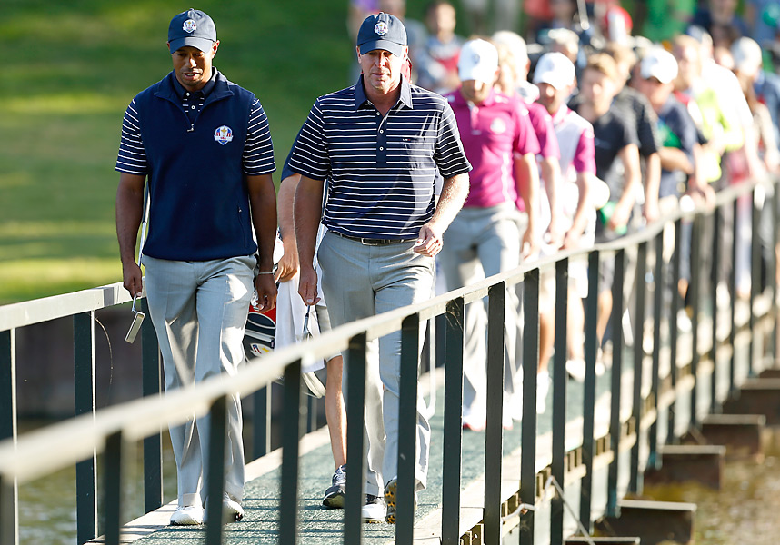 Woods had a forgettable Ryder Cup. He went 0-3 with longtime partner Steve Stricker, then halved his Sunday singles match to finish the event 0-3-1 as the U.S. lost the Cup to Europe's stunning Sunday rally.